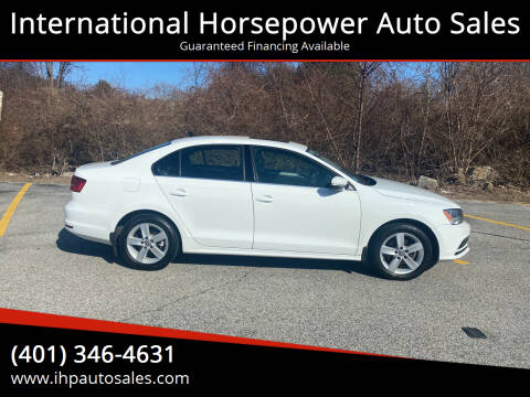 2015 Volkswagen Jetta for sale at International Horsepower Auto Sales in Warwick RI