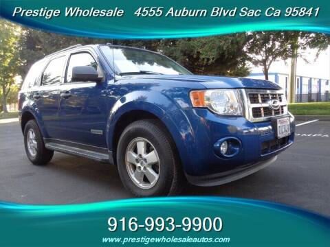 2008 Ford Escape for sale at Prestige Wholesale in Sacramento CA