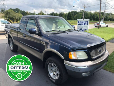 2003 Ford F-150 for sale at SIMPSON MOTORS in Youngstown OH