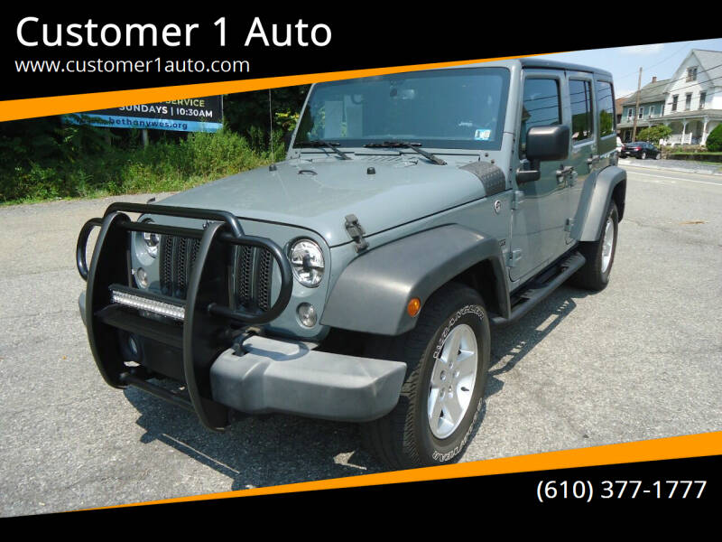 2014 Jeep Wrangler Unlimited for sale at Customer 1 Auto in Lehighton PA