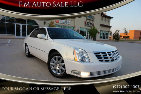 2006 Cadillac DTS for sale at F.M Auto Sale LLC in Dallas TX