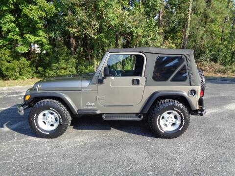 2003 Jeep Wrangler for sale at BALKCUM AUTO INC in Wilmington NC
