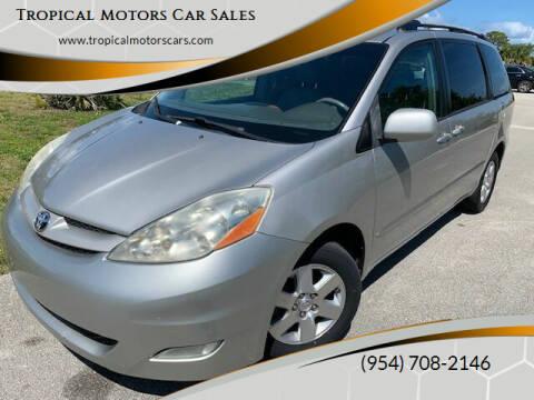2008 Toyota Sienna for sale at Tropical Motors Car Sales in Deerfield Beach FL