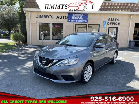 2017 Nissan Sentra for sale at JIMMY'S AUTO WHOLESALE in Brentwood CA