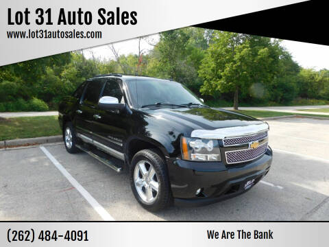2012 Chevrolet Avalanche for sale at Lot 31 Auto Sales in Kenosha WI