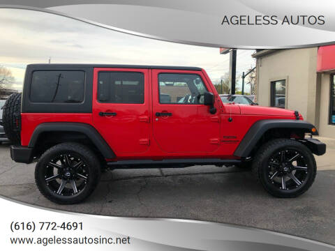 2015 Jeep Wrangler Unlimited for sale at Ageless Autos in Zeeland MI