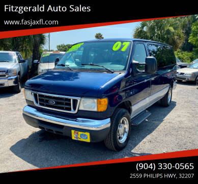 2007 Ford E-Series Wagon for sale at Fitzgerald Auto Sales in Jacksonville FL