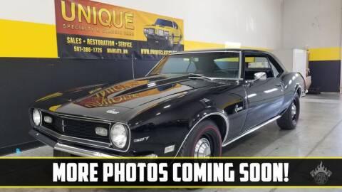 1968 Chevrolet Camaro for sale at UNIQUE SPECIALTY & CLASSICS in Mankato MN