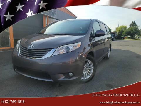 2012 Toyota Sienna for sale at Lehigh Valley Truck n Auto LLC. in Schnecksville PA