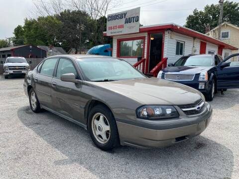 2003 Chevrolet Impala for sale at Crosby Auto LLC in Kansas City MO