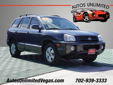 2006 Hyundai Santa Fe for sale at Autos Unlimited in Las Vegas NV