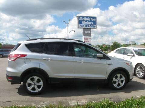 2014 Ford Escape for sale at MCQUISTON MOTORS in Wyandotte MI