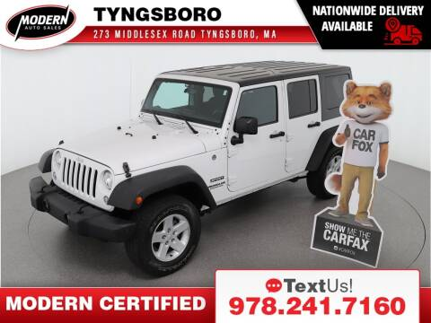 2017 Jeep Wrangler Unlimited for sale at Modern Auto Sales in Tyngsboro MA