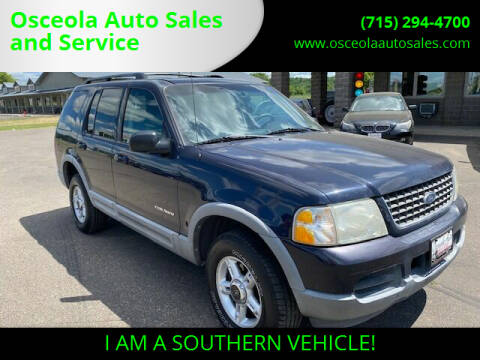 2002 Ford Explorer for sale at Osceola Auto Sales and Service in Osceola WI