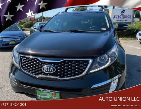 2013 Kia Sportage for sale at Auto Union LLC in Virginia Beach VA