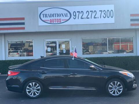 2014 Hyundai Azera for sale at Traditional Autos in Dallas TX