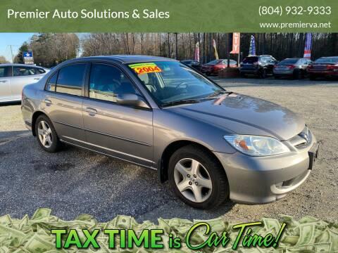 2004 Honda Civic for sale at Premier Auto Solutions & Sales in Quinton VA