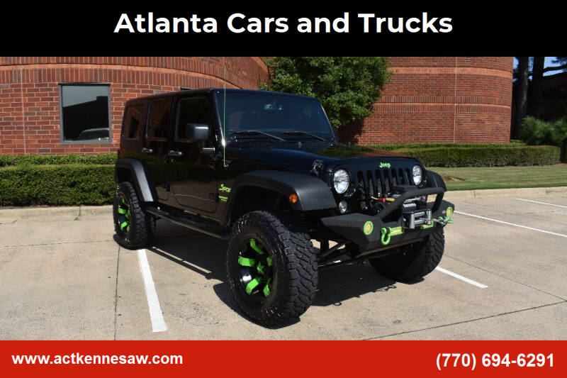 2015 Jeep Wrangler Unlimited for sale at Atlanta Cars and Trucks in Kennesaw GA