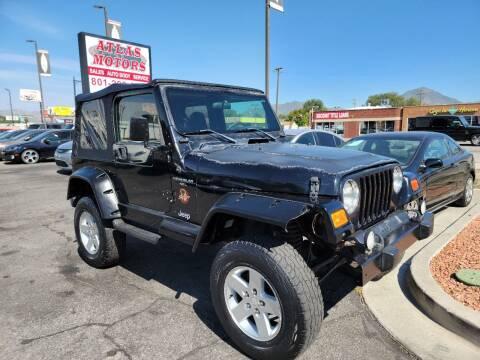1998 Jeep Wrangler for sale at ATLAS MOTORS INC in Salt Lake City UT