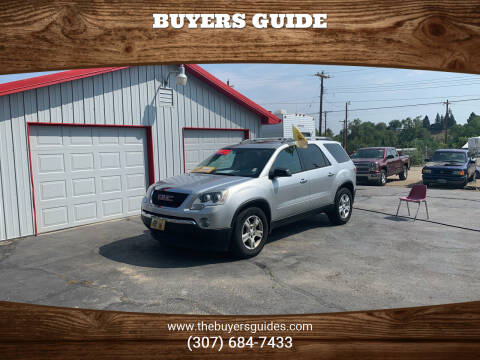 2011 GMC Acadia for sale at Buyers Guide in Buffalo WY