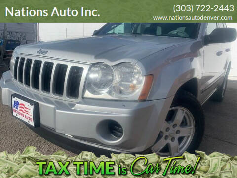 2007 Jeep Grand Cherokee for sale at Nations Auto Inc. in Denver CO