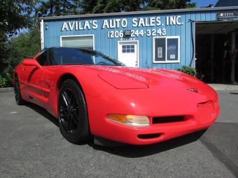 1998 Chevrolet Corvette for sale at Avilas Auto Sales Inc in Burien WA