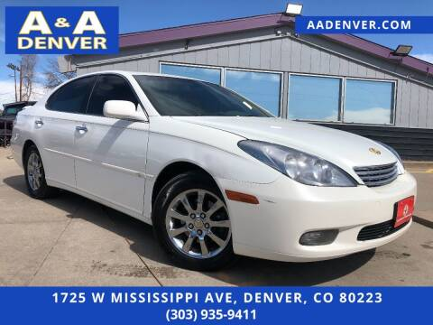 2003 Lexus ES 300 for sale at A & A AUTO LLC in Denver CO