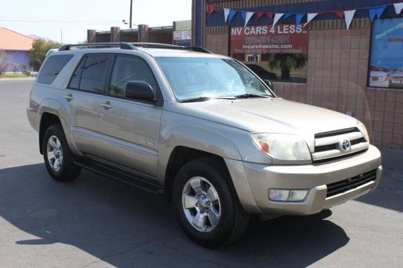 2004 Toyota 4Runner for sale at NV Cars 4 Less, Inc. in Las Vegas NV