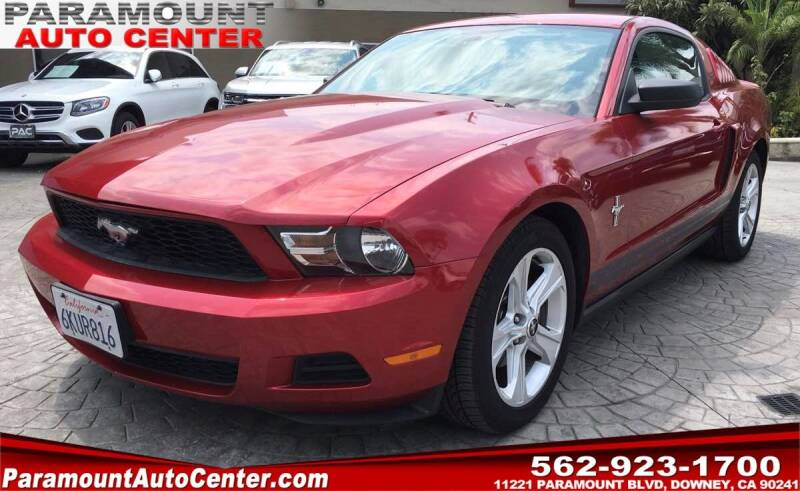 2010 Ford Mustang for sale at PARAMOUNT AUTO CENTER in Downey CA