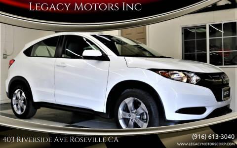 2018 Honda HR-V for sale at Legacy Motors Inc in Roseville CA