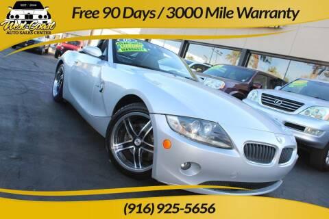 2005 BMW Z4 for sale at West Coast Auto Sales Center in Sacramento CA