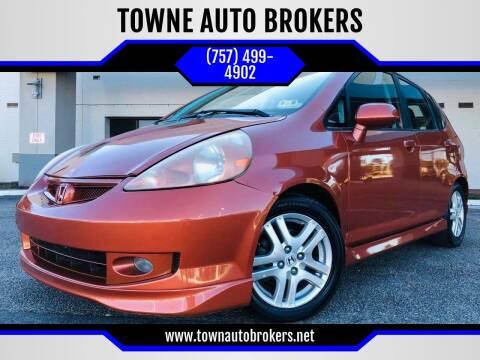 2008 Honda Fit for sale at TOWNE AUTO BROKERS in Virginia Beach VA