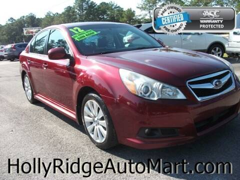 2012 Subaru Legacy for sale at Holly Ridge Auto Mart in Holly Ridge NC