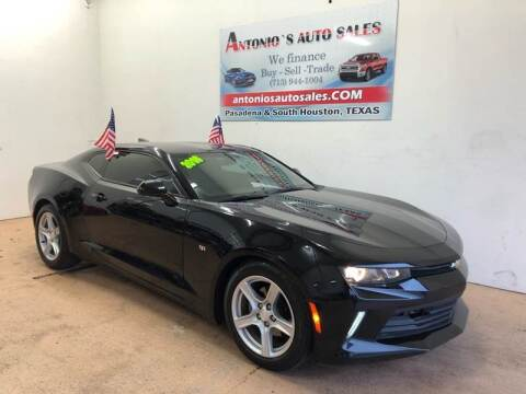 2016 Chevrolet Camaro for sale at Antonio's Auto Sales - Antonio`s  3001 in Pasadena TX