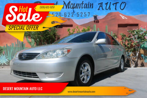 2005 Toyota Camry for sale at DESERT MOUNTAIN AUTO LLC in Tucson AZ