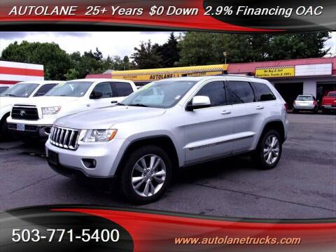 2013 Jeep Grand Cherokee for sale at Auto Lane in Portland OR