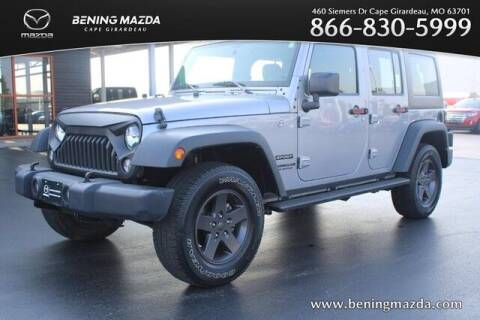 2017 Jeep Wrangler Unlimited for sale at Bening Mazda in Cape Girardeau MO