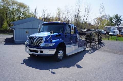 2005 International 4400  & 2015 KAUFMAN 5 CAR TRL for sale at Autos By Joseph Inc in Highland NY