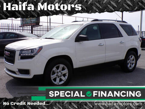 2014 GMC Acadia for sale at Haifa Motors in Philadelphia PA