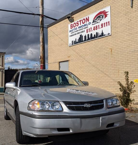 2002 Chevrolet Impala for sale at Boston Auto World in Quincy MA