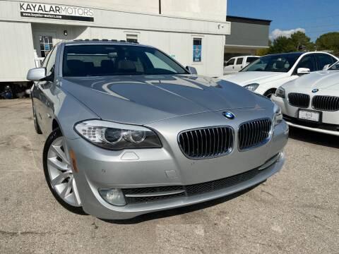 2011 BMW 5 Series for sale at KAYALAR MOTORS in Houston TX