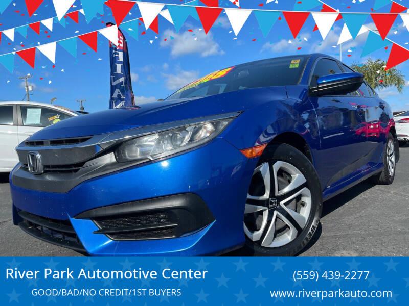 2016 Honda Civic for sale at River Park Automotive Center in Fresno CA