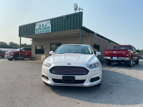 2014 Ford Fusion for sale at B & J Auto Sales in Auburn KY