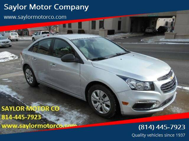 2016 Chevrolet Cruze Limited for sale at Saylor Motor Company in Somerset PA