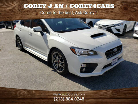 2016 Subaru WRX for sale at WWW.COREY4CARS.COM / COREY J AN in Los Angeles CA
