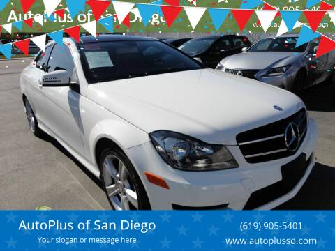 2014 Mercedes-Benz C-Class for sale at AutoPlus of San Diego in Spring Valley CA