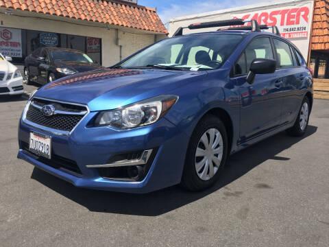2015 Subaru Impreza for sale at CARSTER in Huntington Beach CA