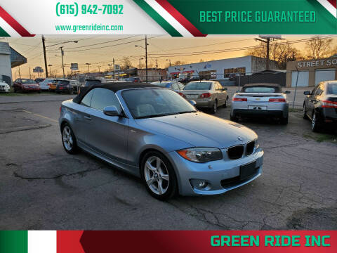 2013 BMW 1 Series for sale at Green Ride Inc in Nashville TN