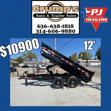 2022 Pj 12' Dump Trailer for sale at CRUMP'S AUTO & TRAILER SALES in Crystal City MO