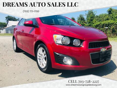 2012 Chevrolet Sonic for sale at Dreams Auto Sales LLC in Leesburg VA